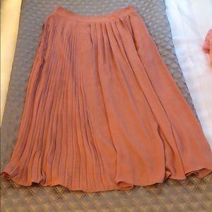 H&M flowy midi skirt in dark peach